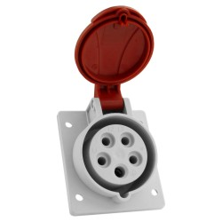 Schräg Einbausteckdose 16A 400V 5P IP54 CEE