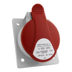 Schräg Einbausteckdose 32A 400V 5P IP54 CEE
