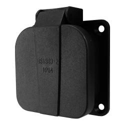 Schutzkontakt Steckdose englisch britisch schwarz PCE13A 2P+Z 230V IP44 1020-0S PCE