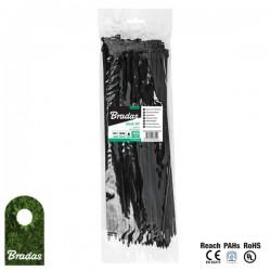 100Stk. Kabelbinder 2,2x100mm UVBlack schwarz Bradas 2739