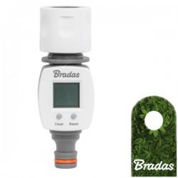Digitaler Gartenwasserzähler LCD Schnellkupplung + Adapter