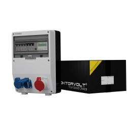Stromverteiler mit Stromzähler TD-S/FI 16A 2x230V