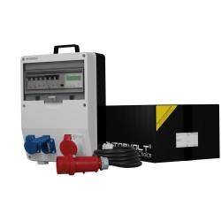 Stromverteiler TD-S/FI 16A 2x230V SKH Kabel & Stromzähler MID