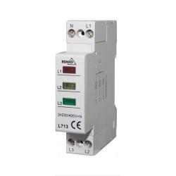 BEMKO Leuchte Phasenkontrolle Signalleuchte Leuchtmelder  3 x 230V 1637