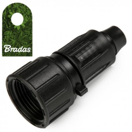 Verbinder 16mm PE Rohr Verschraubung Kupplung AG 1//2/' Bradas 0193