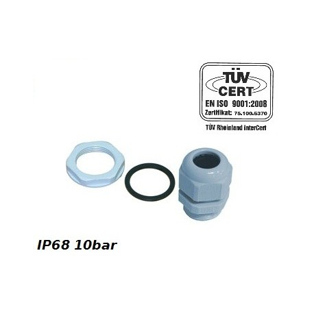 PG7 Kabelverschraubung  IP68 10bar Grau PROFI