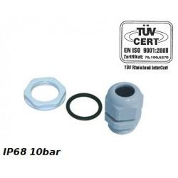 PG9 Kabelverschraubung IP68 10bar Grau PROFI 34.9 2824