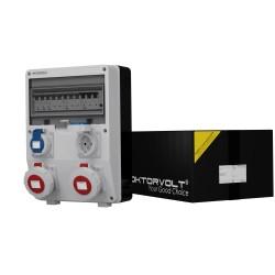 Stromverteiler TD-S/FI 2x16A 2x230V IP65