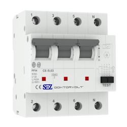 SEZ FI/LS C6 30mA 4p 10kA RCBO FI/LS-Schalter 0090920 Kombi Schalter 1442