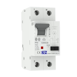 SEZ FI/LS C25 30mA 2p 10kA RCBO FI/LS-Schalter 0090714 Kombi Schalter 0462