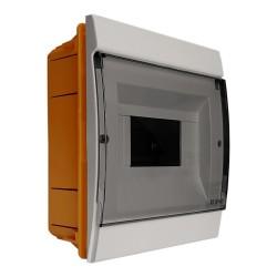 Unterputz Verteilerkasten IP40 4/7 Module grau M-L 0865