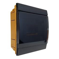 Unterputz Verteilerkasten IP40 4/7 Module schwarz 970.06.N M-L 0902