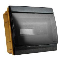 Unterputz Verteilerkasten IP40 8/10 Module schwarz 970.08.N M-L 0964