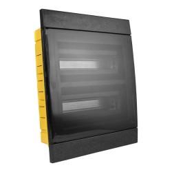 Unterputz Verteilerkasten IP40 24/26 Module schwarz 970.24.N M-L 1107