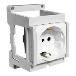 Einbausteckdose Schuko für Hutschiene DIN IP20 Marlanvil 0239