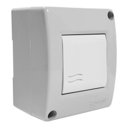 Lichtschalter im Gehäuse IP40 grau M-L 1694