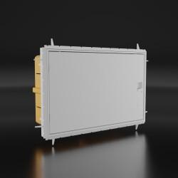 Verteilerkasten Feuchtraumverteiler Unterverteiler IP65 12 Module Sicherungskasten QZERO UP 990.12 M-L 0012