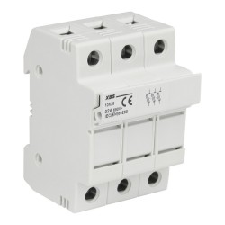 Sicherungssockel 32A 3P für Schiene TH XBS 3647