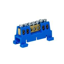 Verteilerklemme 7-polig auf TH Schiene blau 8061