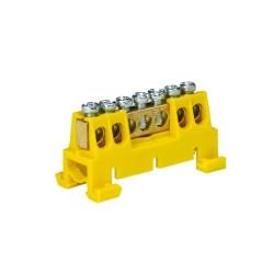 Verteilerklemme 7-polig auf TH Schiene gelb 5089
