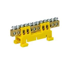 Verteilerklemme 12-polig auf TH Schiene gelb 5096