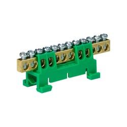 Verteilerklemme 12-polig auf TH Schiene grün 8085
