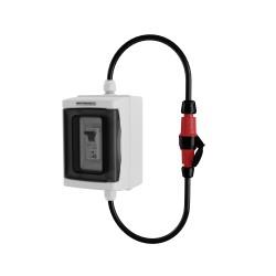 Adapter 230V Stecker auf 230V Kupplung mit Sicherung C16 1P Doktorvolt 2513