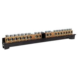 PE/N-Klemme mit Träger 8-Module 8M (2x9P) 16mm2 M-L 1060