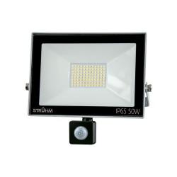 LED Scheinwerfer mit Bewegungssensor KROMA 50W GRAU 4500K 4000lm IP65 IDEUS 6072