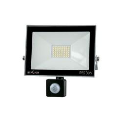 LED Scheinwerfer mit Bewegungssensor KROMA 30W GRAU 4500K 2400lm IP65 IDEUS 6065