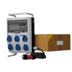 Stromverteiler TD-S/FI 6x230V SKHU Schuko Baustromverteiler Doktorvolt® 9351
