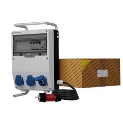 Stromverteiler TD-S/FI 3x230V franz System Kabel Stromzähler MID Stecker