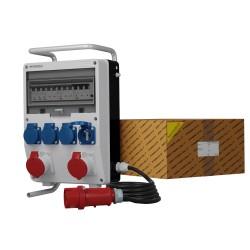 Stromverteiler TD-S/FI 2x16A 4x230V franz System Kabel Stecker Ständer