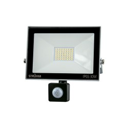 LED Scheinwerfer mit Bewegungssensor KROMA 30W GRAU 6500K 2400lm IP65 IDEUS 7062