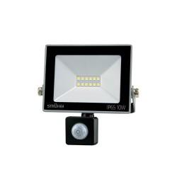 LED Scheinwerfer mit Bewegungssensor KROMA 10W GRAU 4500K 810lm IP65 IDEUS 7727