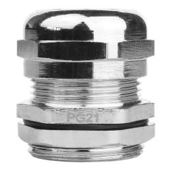 PG21 Kabelverschraubung 10-18mm IP68 Messing vernickelt DGN 3138