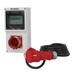 Einbaustecker 32A Mobiler Stromzähler MID 5x4mm2
