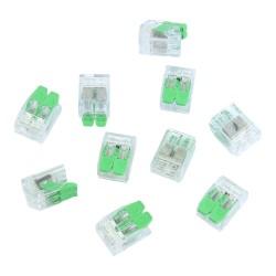 10 Stück Verbindungsklemmen 2x0.2-4.0 mm² VDE UL