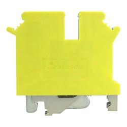 Schutzleiter-Reihenklemme 4mm2 3 Leiter Gelb-grün DGN 3480