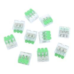 10 Stück Verbindungsklemmen 3x0.2-4.0 mm² VDE UL