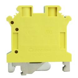 Schutzleiter-Reihenklemme 10mm2 gelb-grün VDE UL DGN 3428