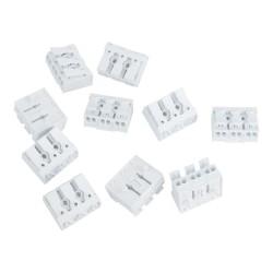 10 Stück Lüsterklemmen 3-polig 0.75-2.5mm2 450V VDE