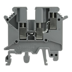 Reihenklemme 2.5mm2 3 Leiter Durchgangsklemme Grau UL 3459