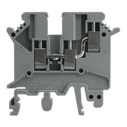Reihenklemme 4mm2 3 Leiter Durchgangsklemme Grau DGN 3466