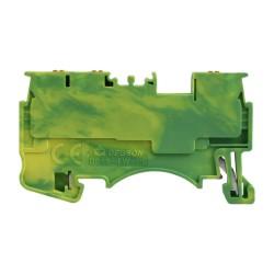 Schutzleiter-Reihenklemme 1.5mm2 3-Leiter gelb-grün Erdungsklemme 3947