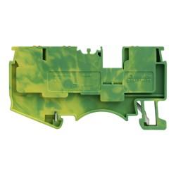 Schutzleiterklemmen 3 Leiter 4mm2 1P gelb-grün