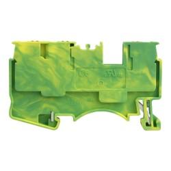 Schutzleiterklemmen 3 Leiter 2,5mm2 1P gelb-grün