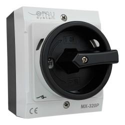 Hauptschalter 3x20A 4kW im Gehäuse grau IP65 MX-320P XBS