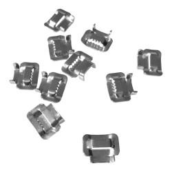 10Stk. Edelstahl Schlaufen Clip Style Ear-Lock 10mm V2A