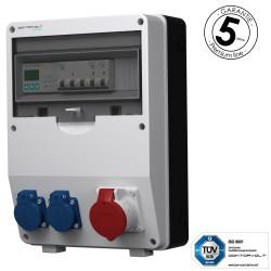 Stromverteiler pTD-S 16A 2x230V 3F Zähler mit SIEMENS und MENNEKES Doktorvolt 4777